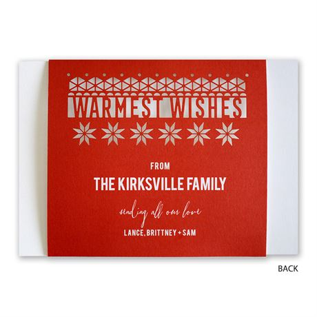 Playful Winter - Laser Cut Holiday Card