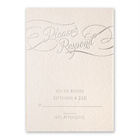 Satin and Swirls Foil Response Card
