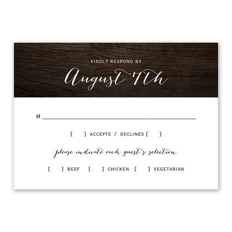 Rustic Beauty Response Card