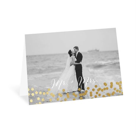 Rustic Beauty - Gold - Foil Thank You Card