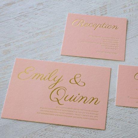 Simply Devoted - Foil Invitation