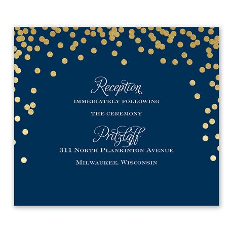 Polka Dot Glow - Gold - Foil Information Card