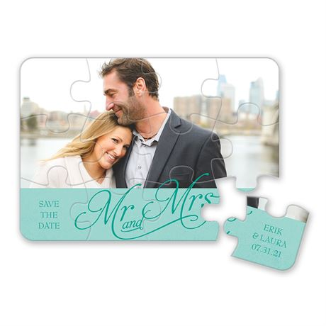 Happy Couple Save the Date Puzzle