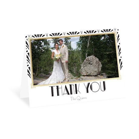 Radiant Art Deco - Gold - Foil Thank You Card