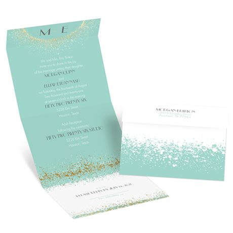 Splatter Frame - Gold - Foil Seal and Send Invitation