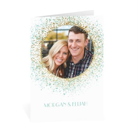 Splatter Frame - Gold - Foil Thank You Card