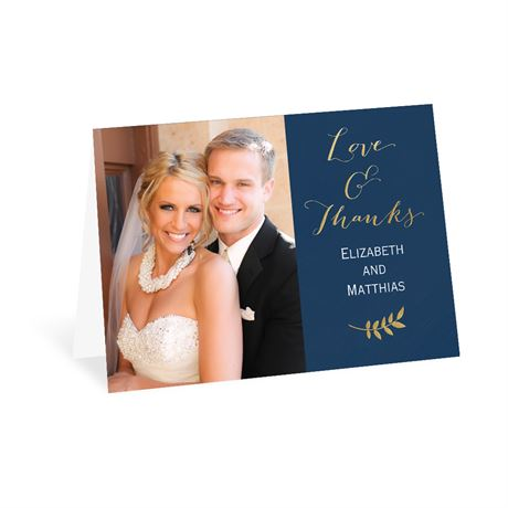 Elegant Accents - Gold - Foil Thank You Card
