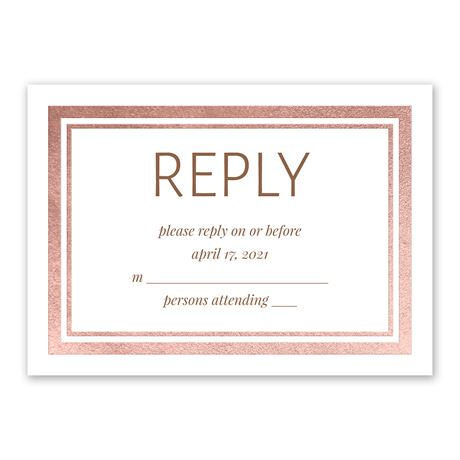 Modern Shine - Rose Gold - Foil Response Card
