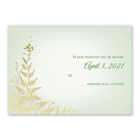 Woodland Sparkle - Gold - Foil Response Card