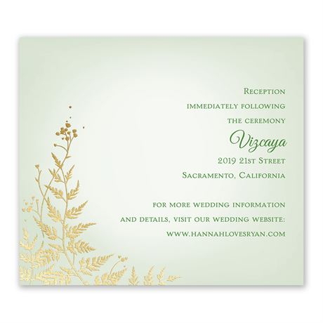 Woodland Sparkle - Gold - Foil Information Card