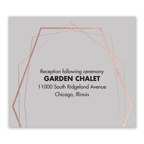 Mid-Century Metallic - Rose Gold - Foil Information Card