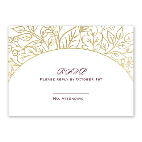 Foliage Frame - Gold - Foil Response Card