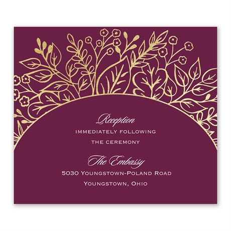 Foliage Frame - Gold - Foil Information Card
