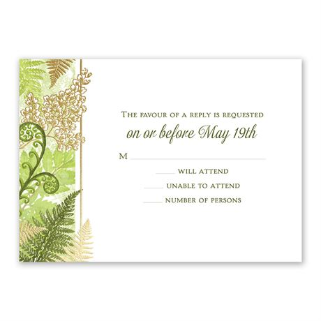 Botanical Beauty - Gold - Foil Response Card