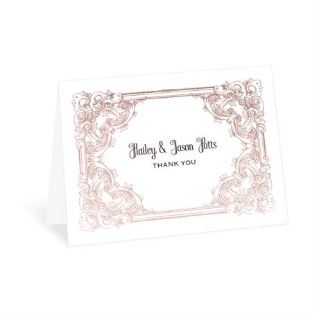 Yorkshire Romance - Rose Gold - Foil Thank You Card