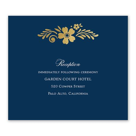Brilliant Boho - Gold - Foil Information Card