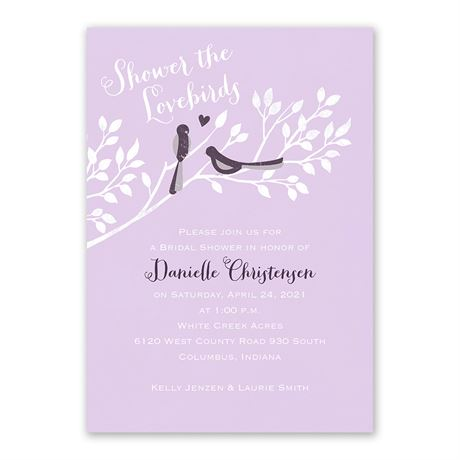 Shower the Lovebirds - Bridal Shower Invitation