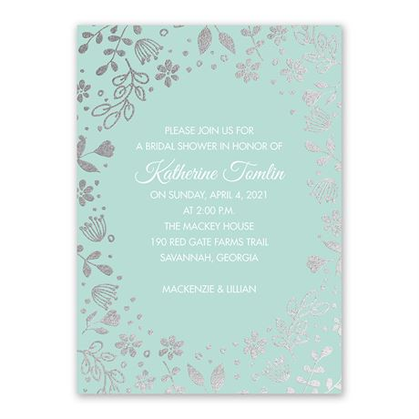 Boho Babe - Silver Foil - Bridal Shower Invitation