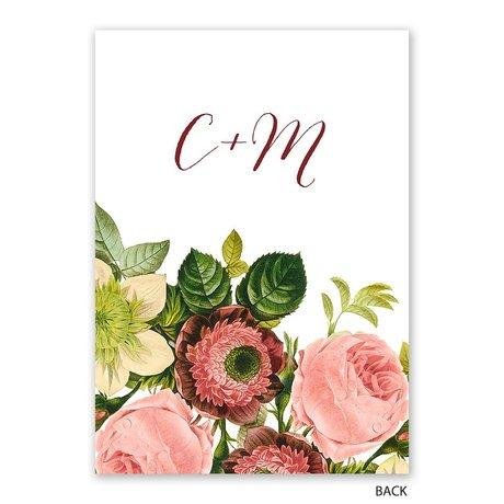 Framed in Flowers - Invitation