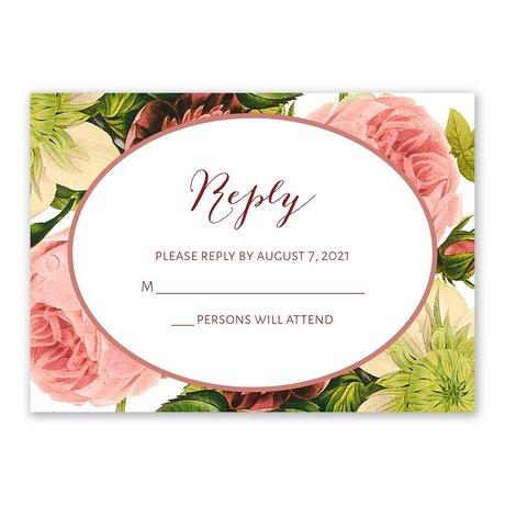 Framed in Flowers Response Card