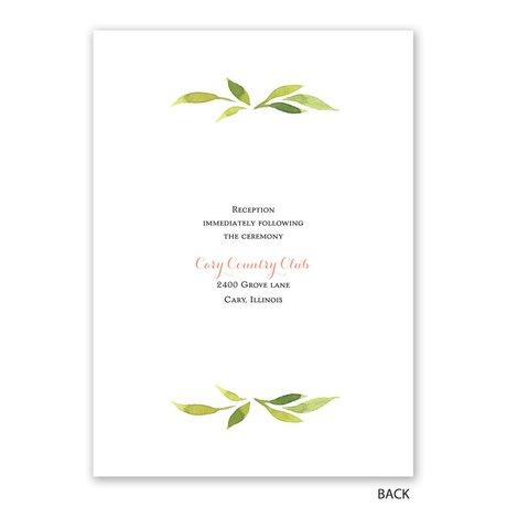 Garden Halo - Silver Foil - Invitation