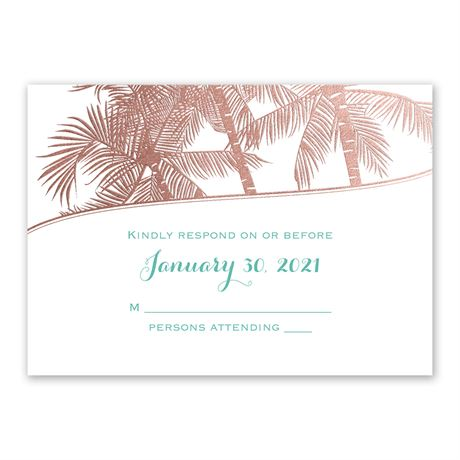 Malibu I Do - Rose Gold - Foil Response Card