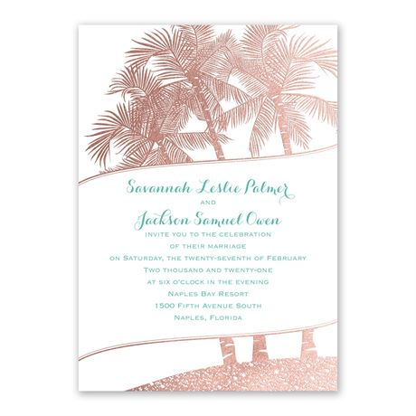 Malibu I Do - Rose Gold - Foil Invitation