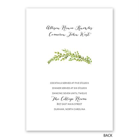 Watercolor Greenery - Invitation