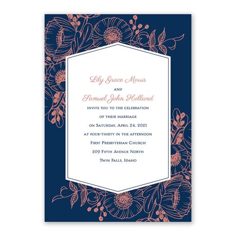 Pretty Poppies - Invitation