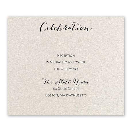 Total Elegance Reception Card