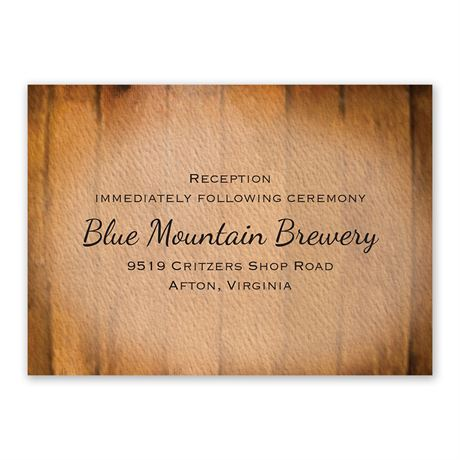 Wine Barrel Reception Card