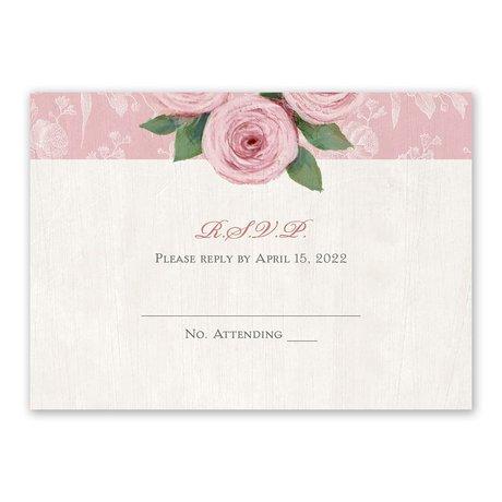 Victorian Rose Response Card