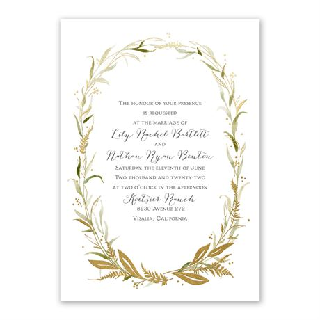 Woodland Halo - Gold - Foil Invitation
