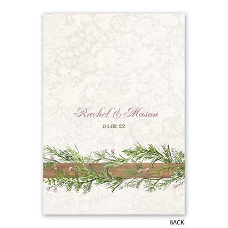 Country Charm - Rose Gold - Foil Invitation