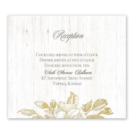 Gardenia Glow Gold Foil Information Card