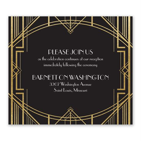 Glamorous - Gold - Foil Information Card