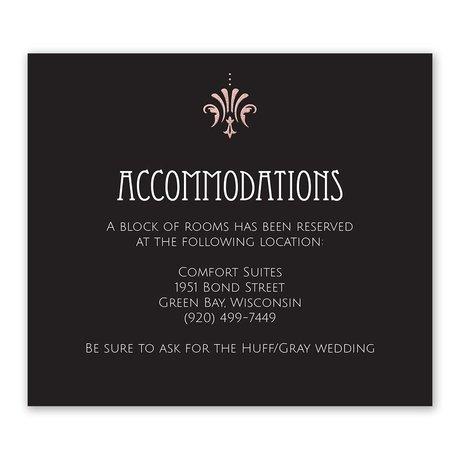 Glam Regency - Rose Gold - Foil Information Card
