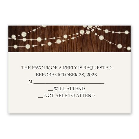 Rustic Celebration Response Card