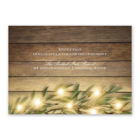 Glowing Greenery Reception Card