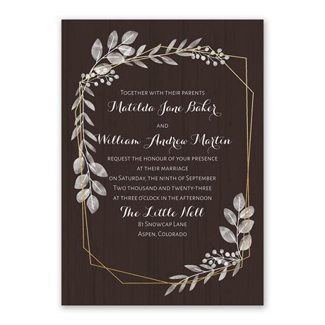 Botanical Frame -  Gold - Foil Invitation