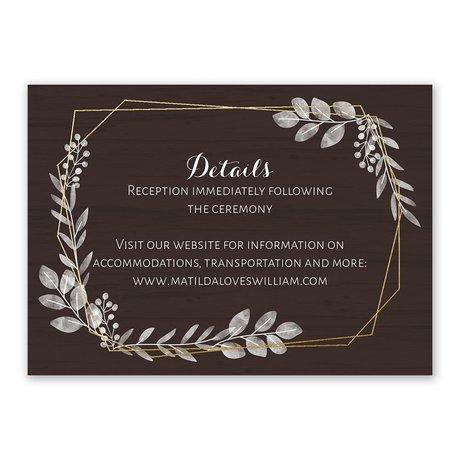 Botanical Frame -  Gold - Foil Reception Card