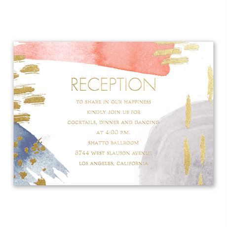 Work of Art - Gold - Foil Reception Card