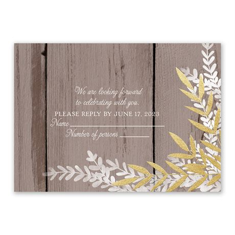 Shimmering Branches - Gold - Foil Response Card
