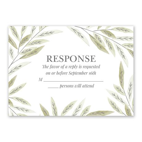 Ruscus Frame Response Card