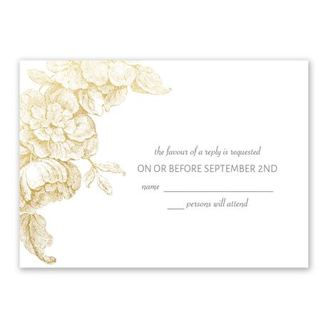 Gilded Garden - Gold - Foil Response Card