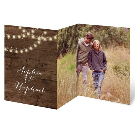 Glowing Lights - Trifold Invitaton