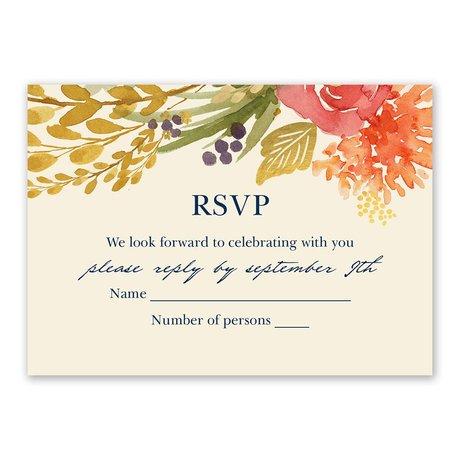 Autumn Foliage Response Card