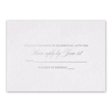 Navy Elegance - Silver - Foil Response Card