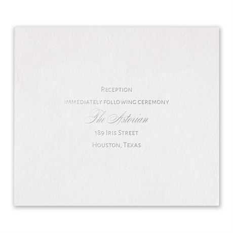 Navy Elegance - Silver - Foil Information Card
