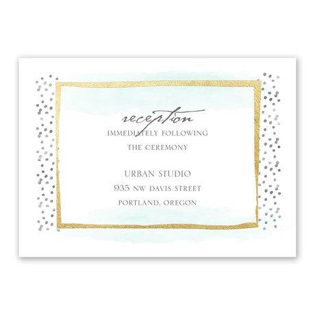 Modern Art - Gold - Foil Reception Card